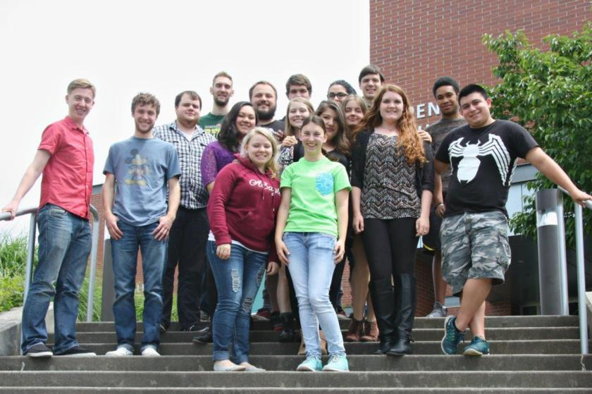 This is a photograph of The Indy staff, which swept the three top awards in the 2014-2015 Pacific Northwest Association of Journalism Educators annual competition